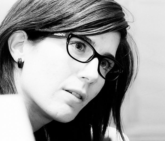 Ione Ardaiz en un momento de la entrevista, en las oficinas de Designit Madrid