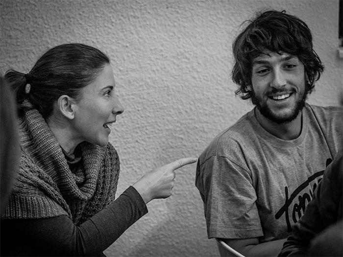 Carmen Lanza y Sergio Álvarez Leiva durante un 4x10.