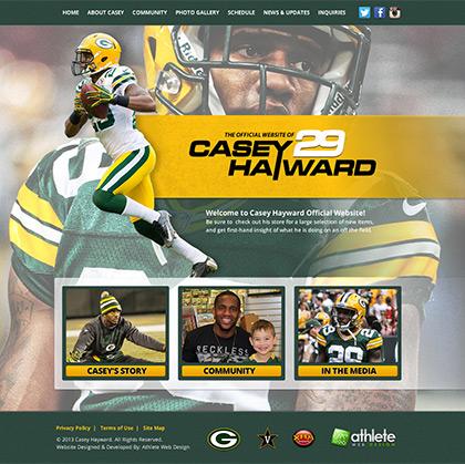 Pablo domínguez trabajó en el diseño de la web de Casey Hayward