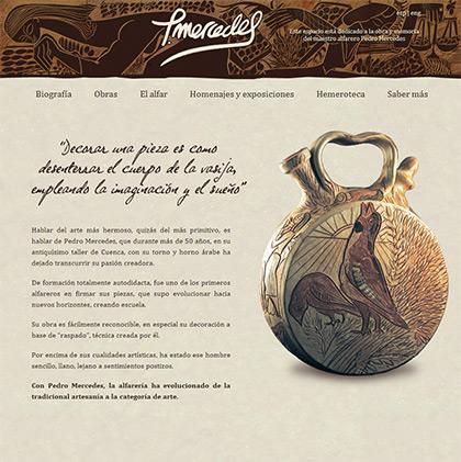 Pablo domínguez trabajó en el diseño de la web de Pedro Mercedes