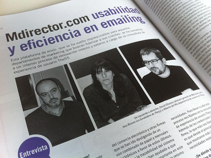 Tras el su trabajo en Mdirector.com entrevista a David Olivares, Ana Álvarez y Alberto del Río