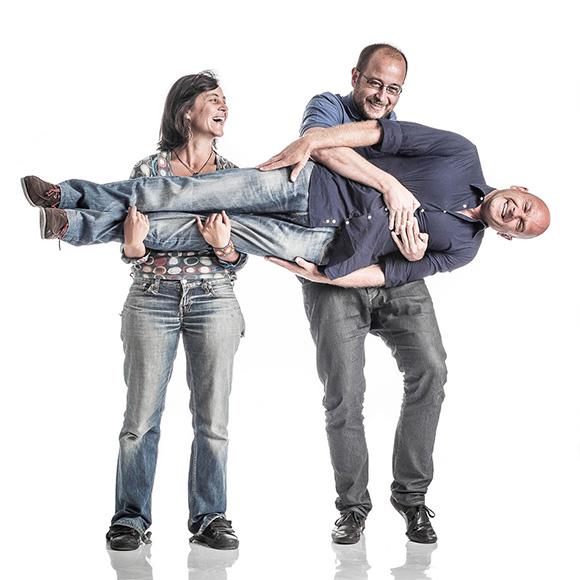 Isabel junto a Ignacio Buenhombre y Juan Leal
