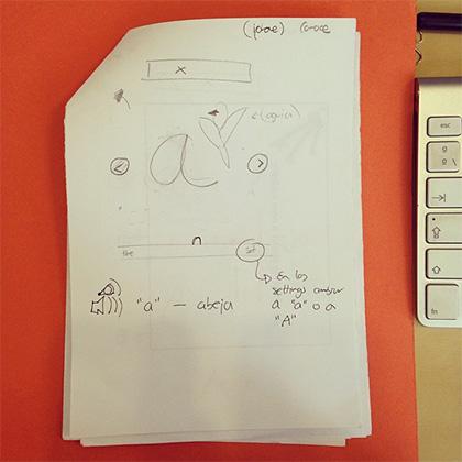 De los 1eros sketches de ABCKit
