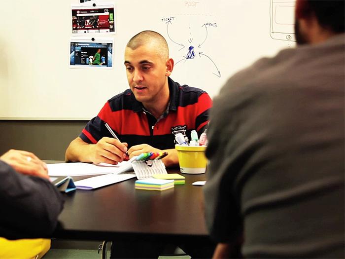 Txuma Campos en una sesión de trabajo durante el proyecto del Atlético de Madrid.