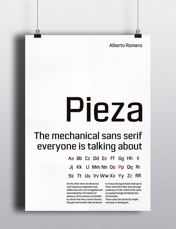'Pieza', la tipografía creada por Alberto Romero