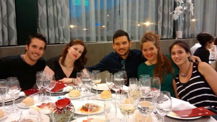 Con el equipo de Ideup en el UXSpain 2014 (Granada). En la foto Pau Chambó, Eva María Pérez, Mauricio Hernández, Diana García
