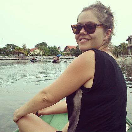 Marta García Pascual de viaje en Vietnam, 2013.