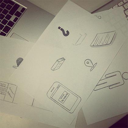 Dibujos de Marta en Ideup! Ilustraron un proceso de alta de un banco