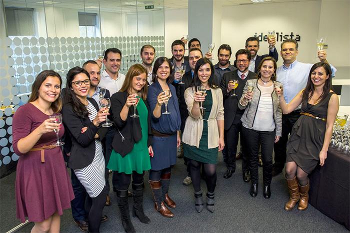 Catia Batista en la inauguración de la oficina de idealista en Portugal