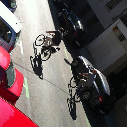 Ramón Azofra y Dani Seuba camino de una reunión. En I'Move se intentaba hacer todo diferente